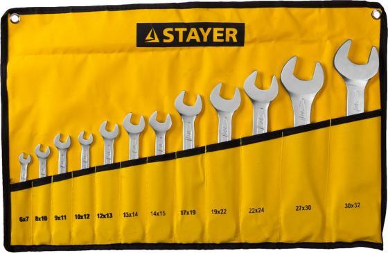 Набор рожковых ключей STAYER 27035-H12 (6 - 32 мм) 12 шт. набор ключей stayer 27035 h6 6 19 мм