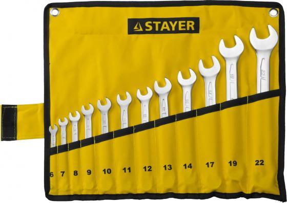 Набор комбинированных ключей STAYER 27081-H12 (6 - 22 мм) 12 шт. stayer 2992 h12