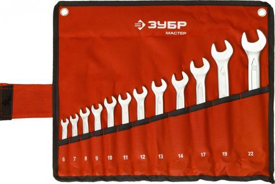 Набор рожковых ключей ЗУБР 27087-H12 (6 - 22 мм) 12 шт. шр 22 800