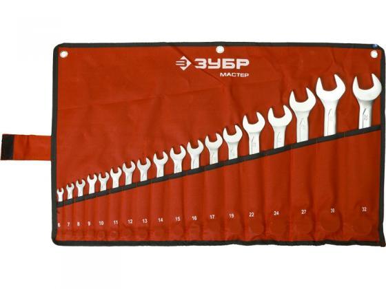 Набор комбинированных ключей ЗУБР 27087-H18 (6 - 32 мм) 18 шт. набор зубр мастер 18 предметов 28120 h18