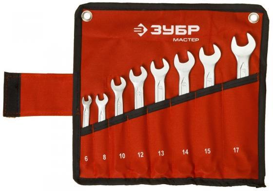 Набор комбинированных ключей ЗУБР 27087-H8 (6 - 17 мм) 8 шт. набор комбинированных ключей kroft 210106 8 17 мм 6 шт