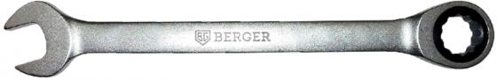 Ключ BERGER BG1102 трещоточный 15мм ключ трещоточный комбинированный berger 27 мм bg1108