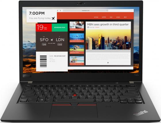 Ноутбук Lenovo ThinkPad T480s 14 1920x1080 Intel Core i5-8250U 256 Gb 8Gb Intel UHD Graphics 620 черный Windows 10 Professional 20L7001VRT ноутбук lenovo ideapad 330s 14ikb 81f401dbru intel® core™ i5 8250u kaby lake r 6 мб smartcache 1 60 ггц 4 гб 256 ssd 14 1920 х 1080 full hd ips intel uhd graphics 620 sma выделяется