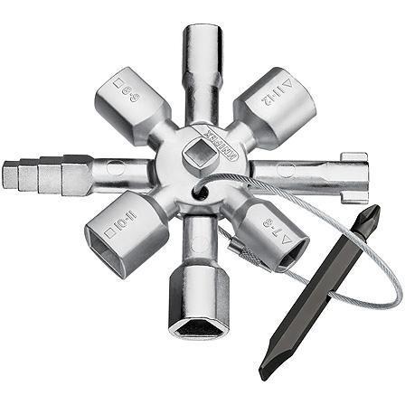 Ключ шкафной KNIPEX KN-001101 (5 / 12 мм) 92 мм переставной ключ knipex alligator kn 8805250