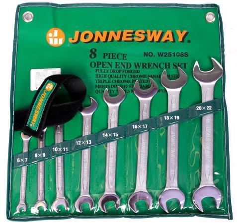 Набор рожковых ключей JONNESWAY W25108S (6 - 22 мм) 8 шт. набор шпателей малярных 25 100 мм 4 шт jonnesway ab030001