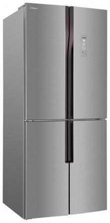 лучшая цена Холодильник Side by Side Hansa FY418.3DFXC серебристый