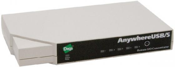 Концентратор USB 2.0 DIGI AW-USB-5M 5 х USB 2.0 1 Ethernet белый