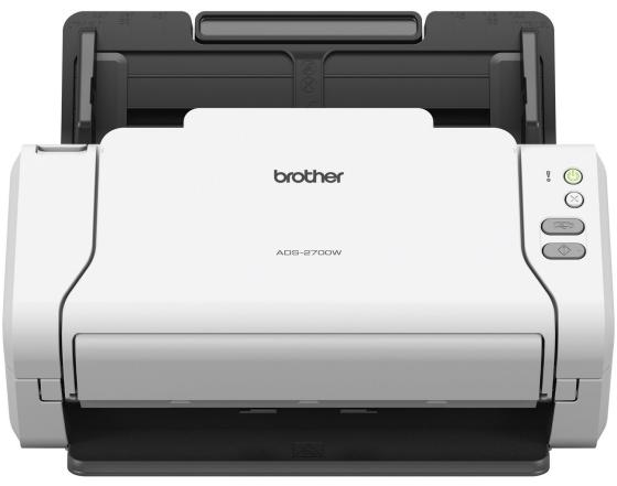 Сканер Brother ADS-2700W протяжный CIS A4 600x600dpi USB Ethernet Wi-Fi цена 2017