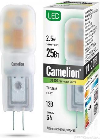 Лампа светодиодная CAMELION LED2.5-JC-SL/845/G4 2.5Вт 12в ac/dc лампа светодиодная camelion led3 g45 830 е14