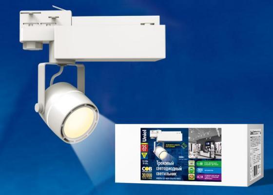 Трековый светодиодный светильник (UL-00002363) Uniel ULB-M08H-35W/WW White трековый светодиодный светильник ul 00002361 uniel ulb m08h 24w ww white