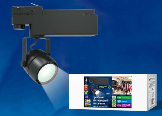 Трековый светодиодный светильник (UL-00002399) Uniel ULB-M08H-35W/NW Black трековый светодиодный светильник ul 00002362 uniel ulb m08h 24w nw white