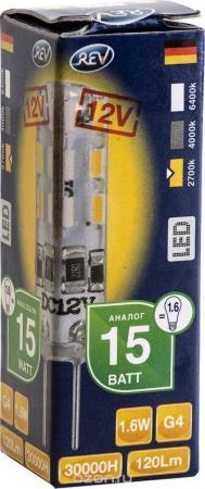 Лампа светодиодная REV RITTER 32365 5 1.6Вт G4 120лм 2700К теплый свет