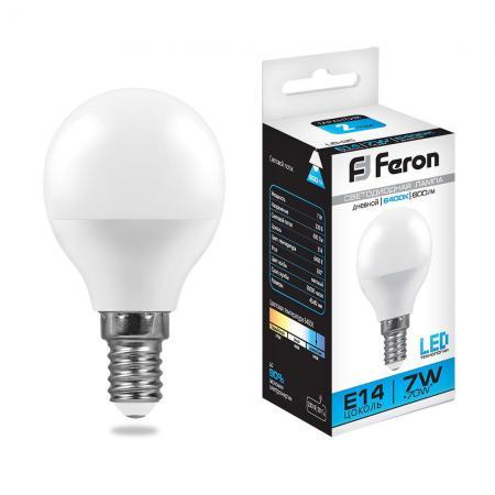 Лампа светодиодная FERON 25480 (7W) 230V E14 6400K, LB-95 стоимость