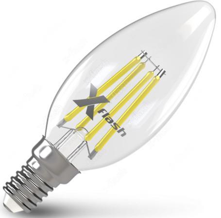 Лампа X-FLASH XF-E14-FL-C35-4W-2700K-230V 4Вт x flash лампа led x flash xf e14 fl сa35 4w 2700k 230v арт 48823