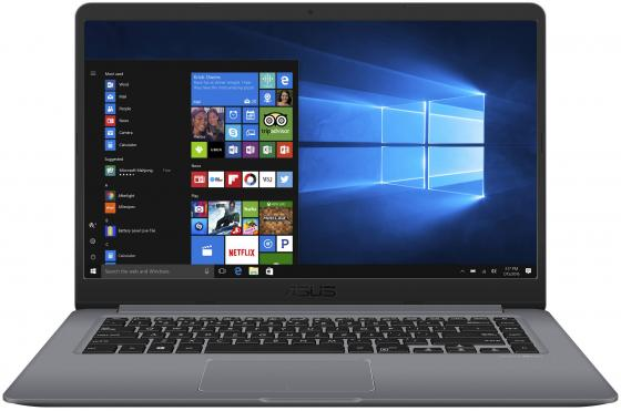 Ноутбук ASUS VivoBook S15 S510UN-BQ162T 15.6 1920x1080 Intel Core i5-8250U 1 Tb 8Gb nVidia GeForce MX150 2048 Мб серый Windows 10 Home 90NB0GS5-M02160