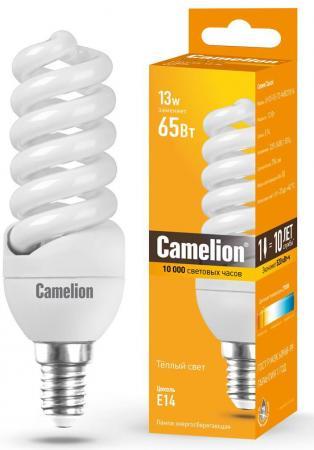 Лампа энергосберегающая спираль Camelion LH11-FS-T2-M/827/E14 E14 11W 2700K лампа энергосберегающая 00654 e14 11w 2700k полуспираль мини матовая esl h21 11 2700 e14