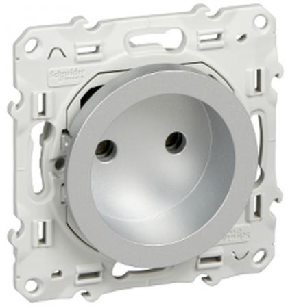 Механизм розетки SCHNEIDER ELECTRIC 270100 Odace 1-м СП защ. шторки алюм. S53R033