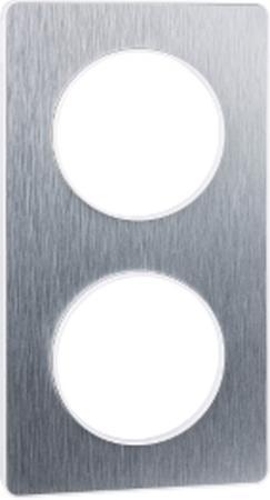 Рамка SCHNEIDER ELECTRIC 268303 Odace 2-м полиров. алюм. S52P804J рамка schneider electric s53p802 odace