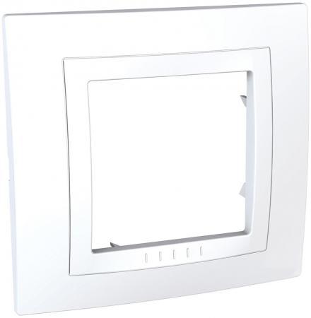 Рамка SCHNEIDER ELECTRIC MGU2.002.18 Unica 1-м бел.