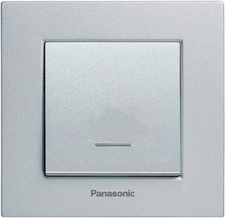 Механизм выключателя PANASONIC WKTT0002-2SL-RES Karre Plus 1кл с подсветкой серебро