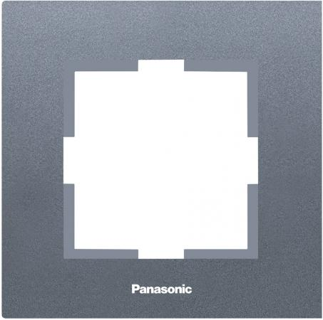 Рамка PANASONIC WKTF0801-2DG-RES Karre Plus 1м темно-серый стоимость