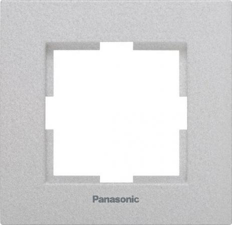 Рамка PANASONIC WKTF0801-2SL-RES Karre Plus 1м серебро рамка panasonic wktf0804 2sl res karre plus 6м горизонтальная белая