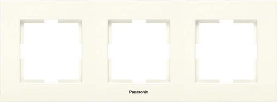 Рамка PANASONIC WKTF0813-2WH-RES Karre Plus 3м горизонтальная крем кабель амфенол 3м для атс panasonic односторонний