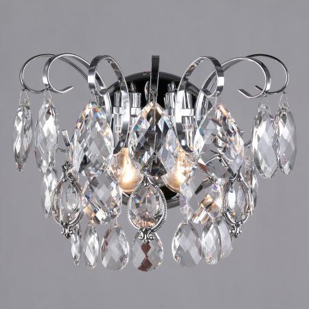 Бра Eurosvet Crystal 10081/2 хром/прозрачный хрусталь Strotskis