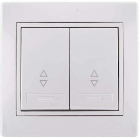 Выключатель LEZARD 701-0202-106 серия скр.проводки Мира проходной двойной белый цены