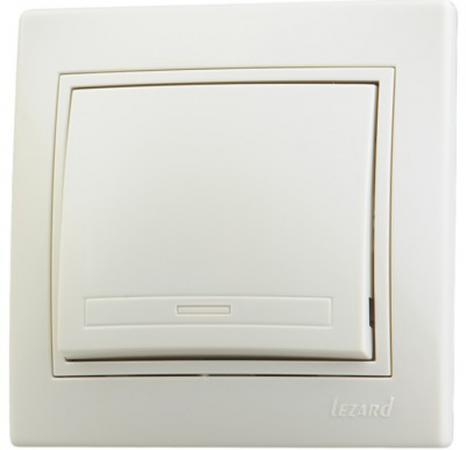 Выключатель LEZARD 701-0303-100 серия скр.проводки Мира 1клавиша кремовый со вст.