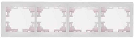 Рамка LEZARD 701-0200-149 серия Мира 4-ая горизонтальная белый