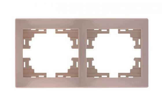 Рамка LEZARD 701-0300-147 серия Мира 2-ая горизонтальная б/вст кремовый со вст.