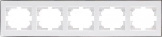 Рамка LEZARD 703-0225-150 серия Рейн 5-ая горизонтальная белый с хромовой вставкой элемент питания m1010 m1010b m2010 20v2a