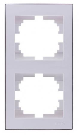 Рамка LEZARD 703-0225-152 серия Рейн 2-ая вертикальная белый с хромовой вставкой olga mercurio вритме танца любви