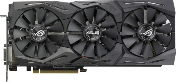 Видеокарта ASUS Radeon RX 580 ROG-STRIX-RX580-8G-GAMING PCI-E 8192Mb 256 Bit Retail видеокарта asus radeon rx vega 56 rog strix rxvega56 o8g gaming pci e 8192mb 2048 bit retail rog strix rxvega56 o8g gaming