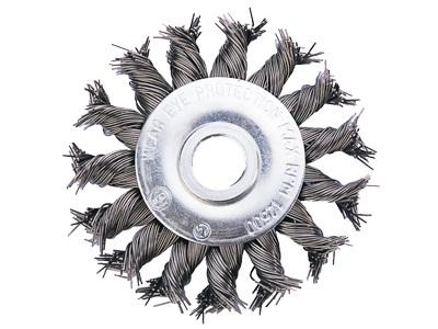 Кордщетка АТАКА 26586 №132 13075131 d75мм круглая для ушм витая цена