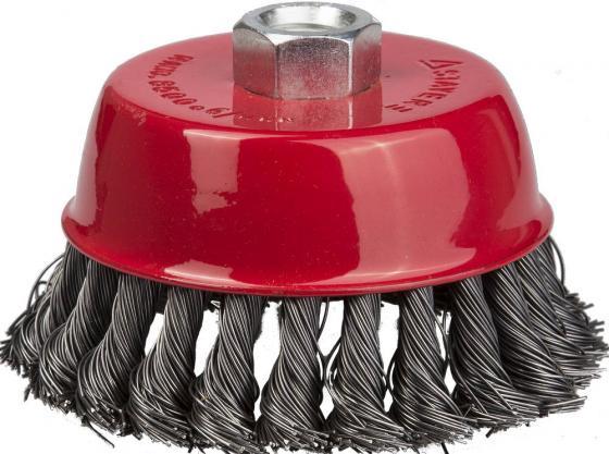 Кордщетка STAYER 35128-080_z01 чашечная для УШМ плетёные пучки проволоки 0.5мм 80мм/М14 кордщетка dexx 35103 100 чашечная м14 для ушм витая сталь0 3мм d100мм