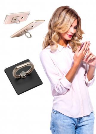 Кольцо-держатель и подставка для телефона и планшета, черное SU 0056 кольцо bradex пилатес