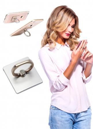 Кольцо-держатель и подставка для телефона и планшета, серебряное SU 0057 кольцо bradex пилатес