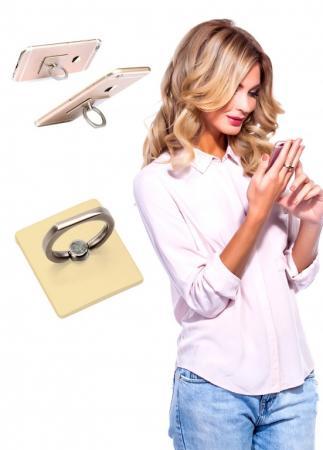 Кольцо-держатель и подставка для телефона и планшета, золотое SU 0058 кольцо bradex пилатес