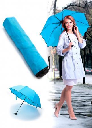 Зонт с проявляющимся рисунком, голубой SU 0066 зонт с проявляющимся рисунком фиолетовый
