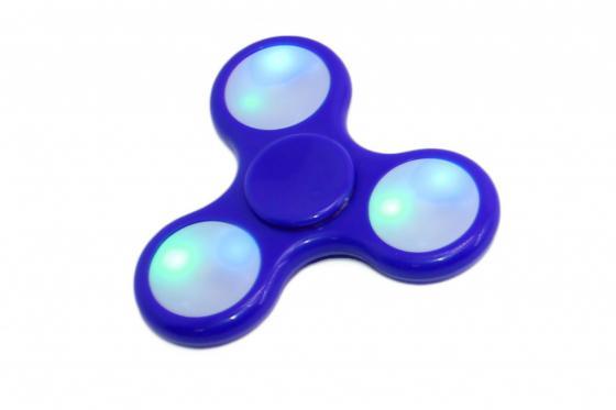 Спиннер-антистресс с LED подсветкой, синий SU 0070 спиннер пластиковый p26 со светодиодной подсветкой синий%2