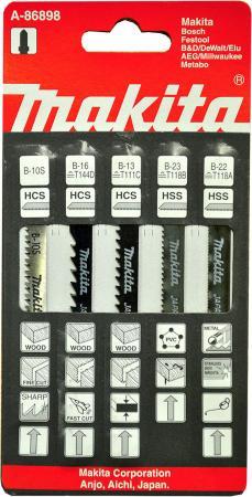 Пилки для лобзика (набор) MAKITA A-86898 5шт.: В-10S,В-13,В-16,В-22,В-23