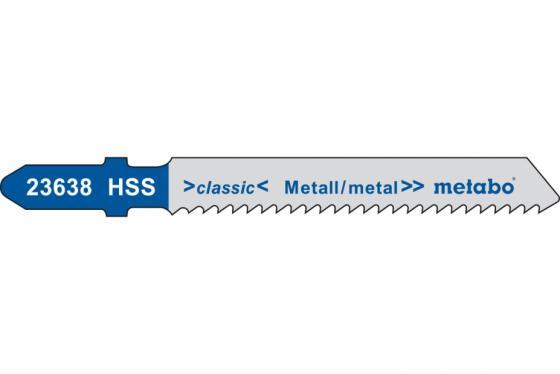 Пилки для лобзика METABO 623638000 T118B 5шт. по стали и цв.мет. 51х2мм HSS