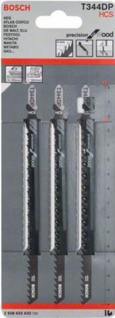 Пилка для лобзика BOSCH T344DP (2.608.633.A32) мягк.дерево\\ДСП, 152мм, шаг 4, HCS, 3шт верстак портативный для лобзика bosch pls 300
