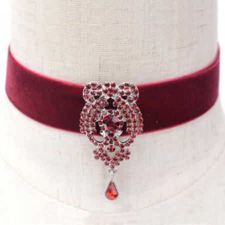 Чокер «ШАРЛОТТА» бордовый AS 0163 шапка женская bradex цвет бордовый as 0303 размер универсальный