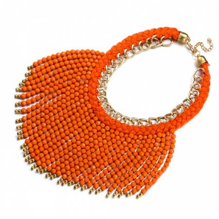 Колье «БОХО» оранжевый AS 0185 dijon fco as monaco