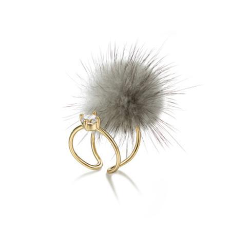 Кольцо «ПУХ» серый AS 0378 кольцо bradex аннабель