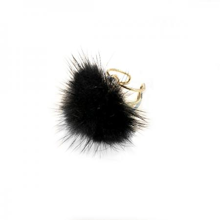 Кольцо «МЯГКИЕ ЛАПКИ» черный AS 0379 кольцо bradex пилатес