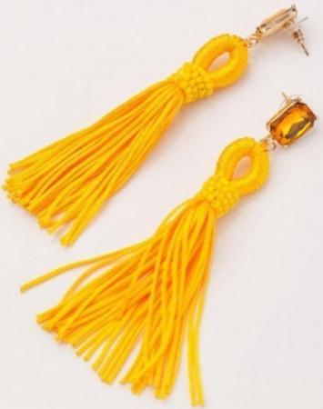 Серьги «КИСТИ» желтый AS 0167